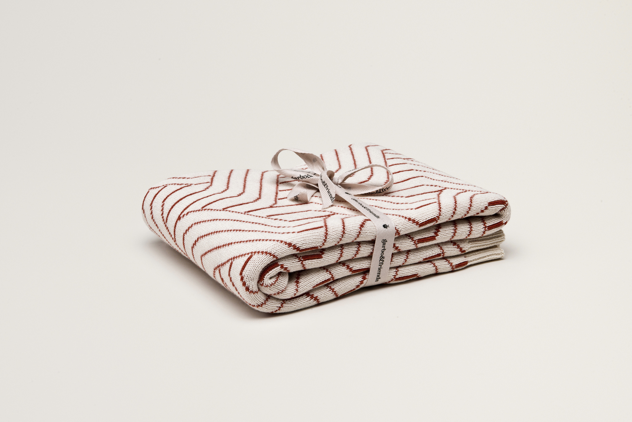 Garbo&Friends Red - Strada Rust Cotton Blanket - Homeware