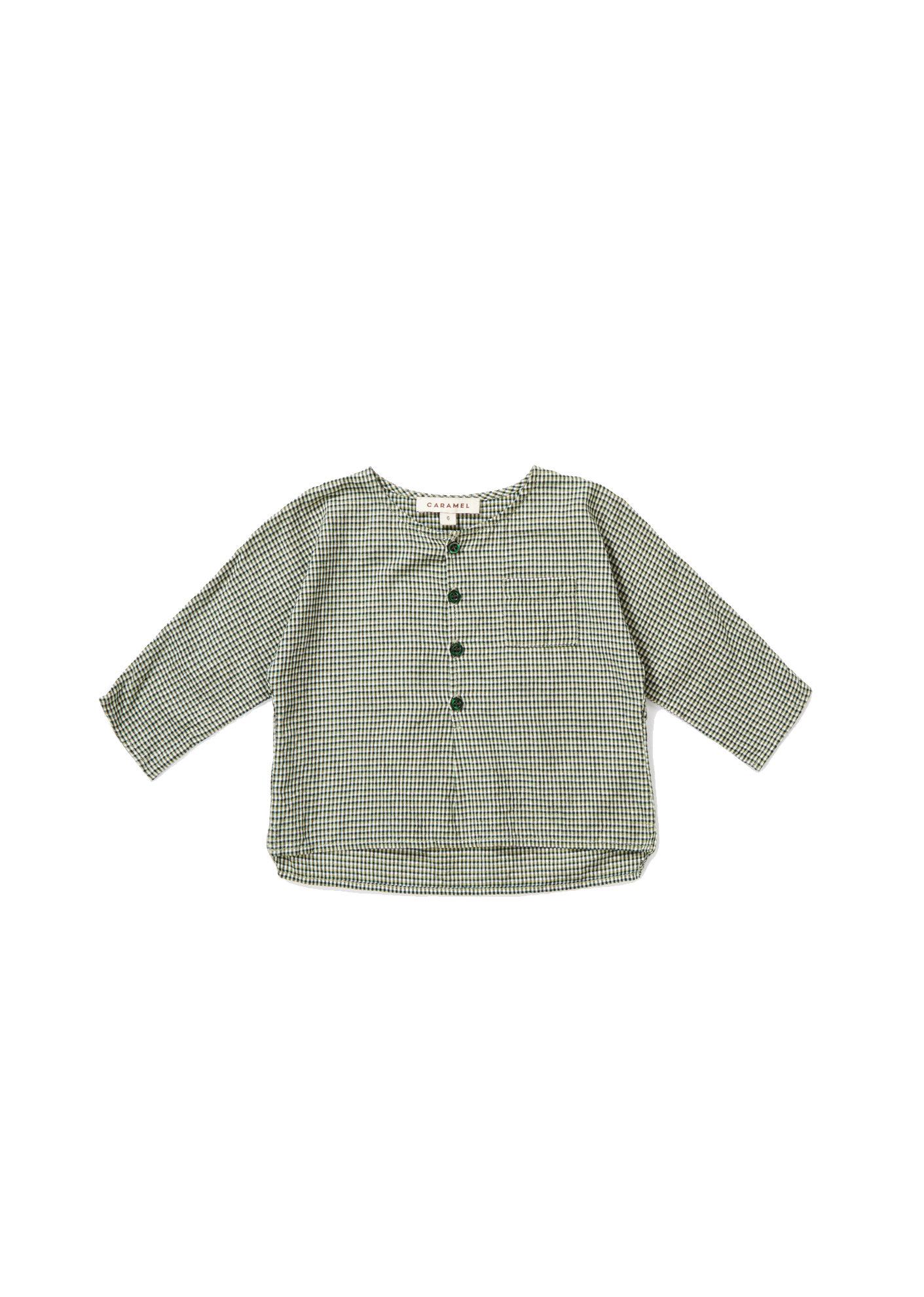 Caramel Green - Castle Baby Shirt - Clothing