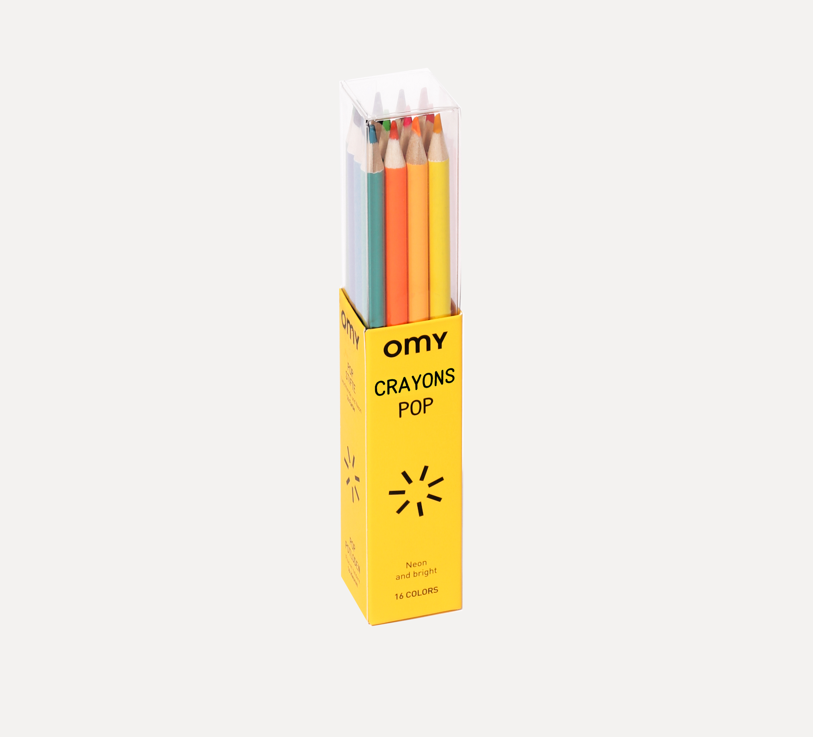 OMY  - BOX OF 16 COLORED PENCILS POP - Toys