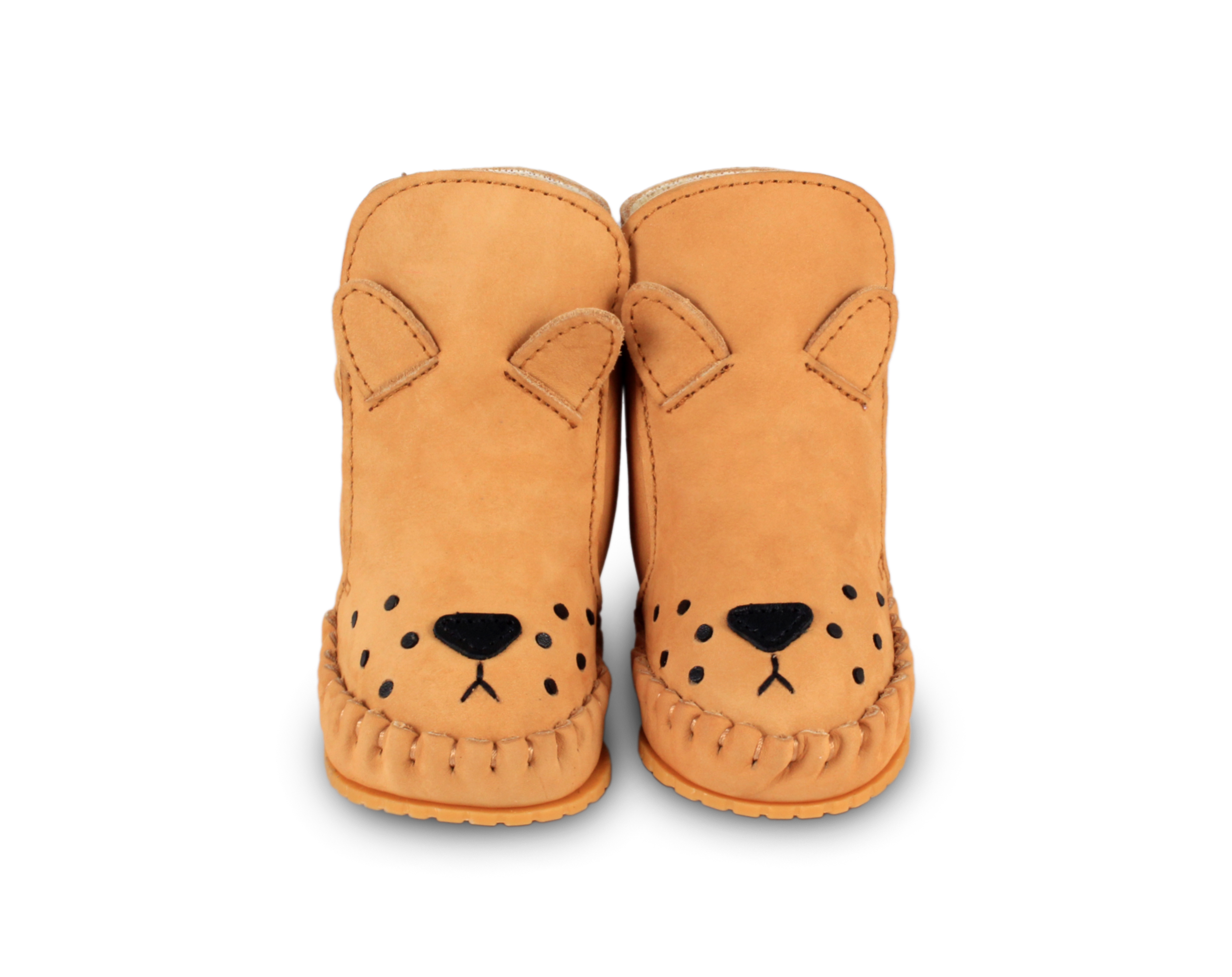 Donsje Camel - Kapi Lining  Baby Shoes Lion - Footware