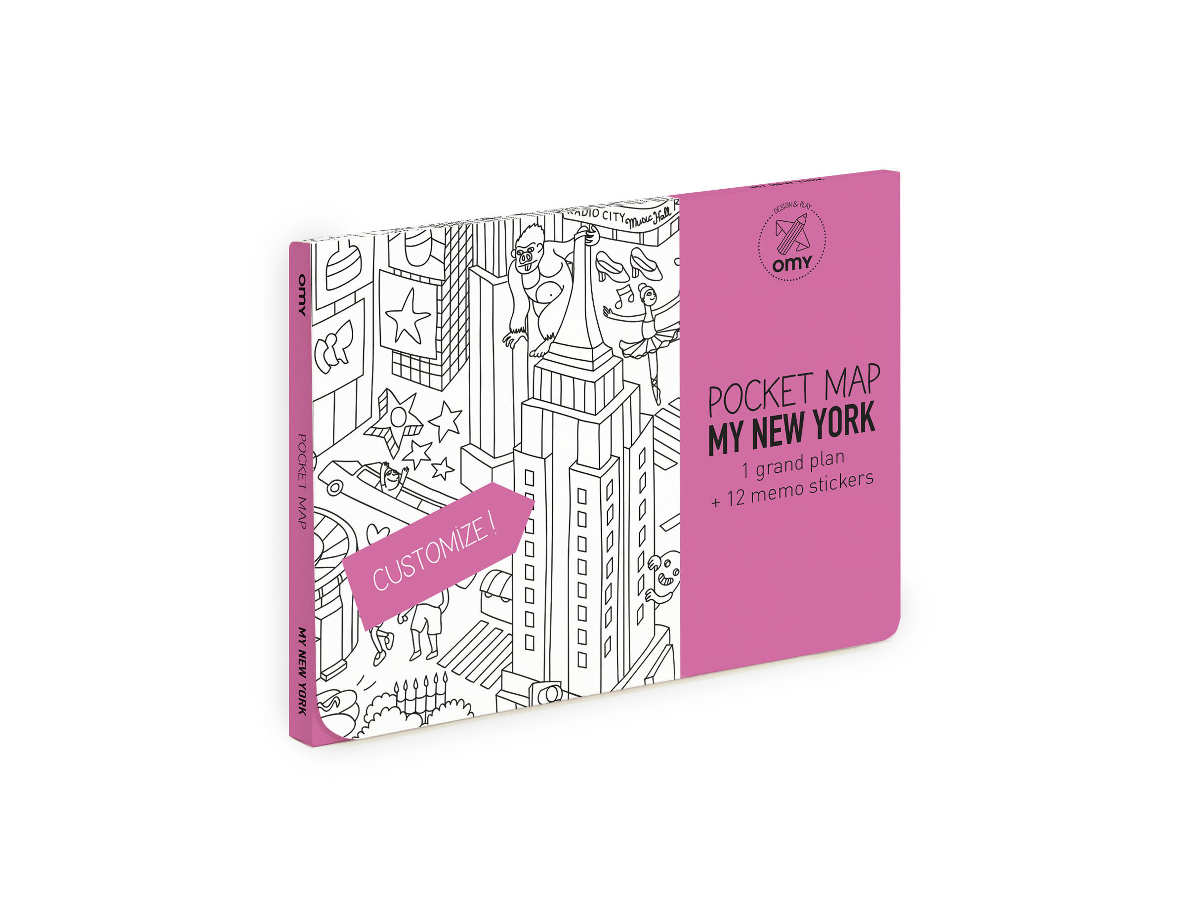 OMY  - COLORING POCKET MAP - NEW YORK CITY - Toys