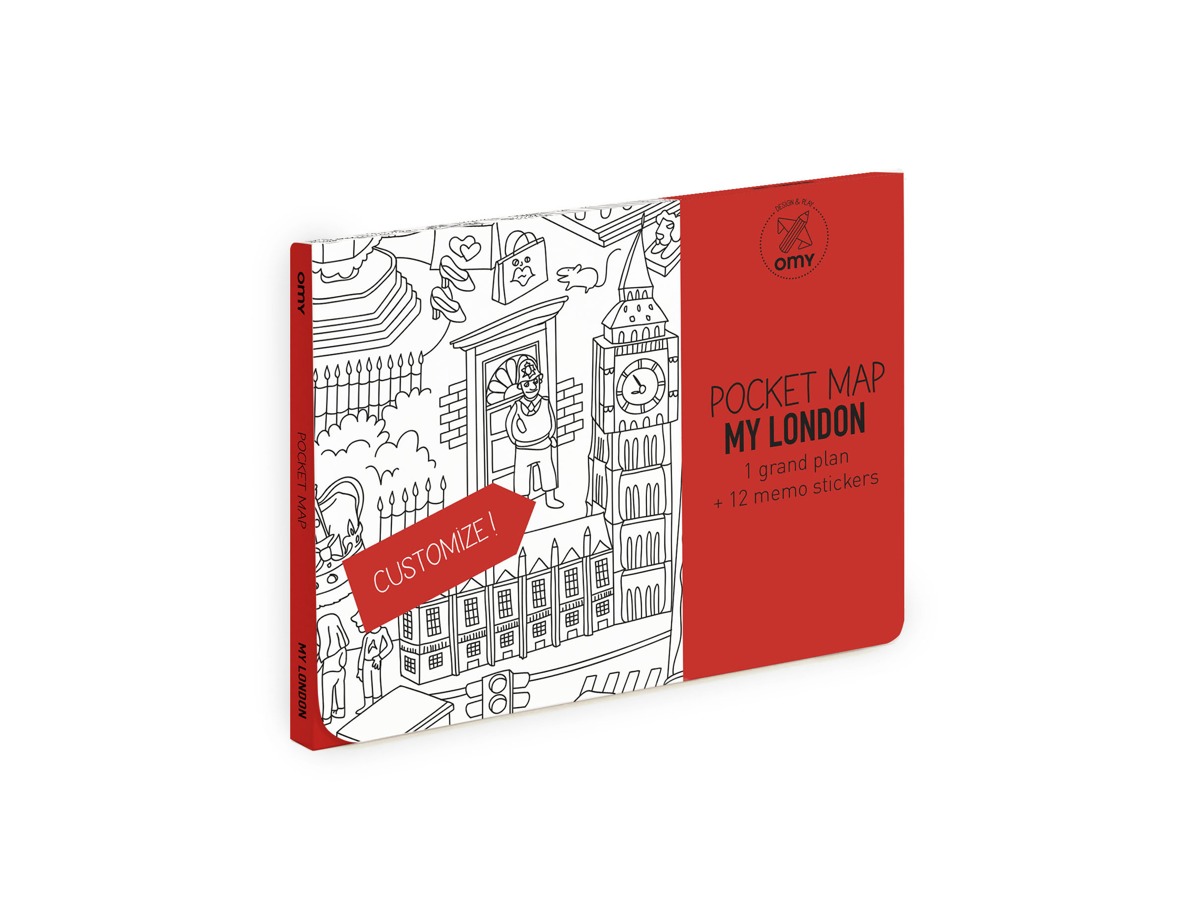 OMY  - COLORING POCKET MAP - LONDON - Toys