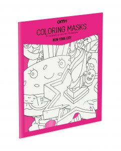 OMY  - 8 COLORING MASKS - NEW YORK CITY - Toys