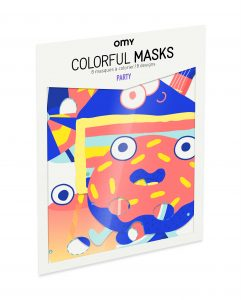 OMY  - 8 GRAPHIC MASKS - PARTY - Toys