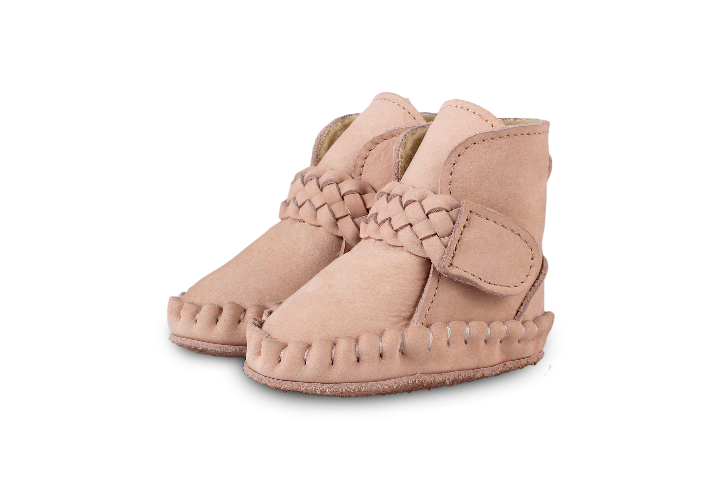Donsje Pink - Mace Lining  Baby Shoes Powder Nubuck - Footware