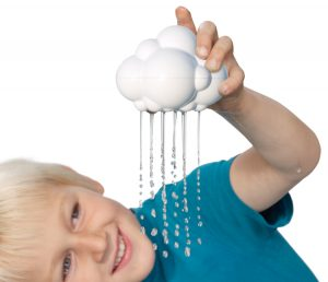 Moluk White - Plui Rain Cloud Tub Toy - Toys