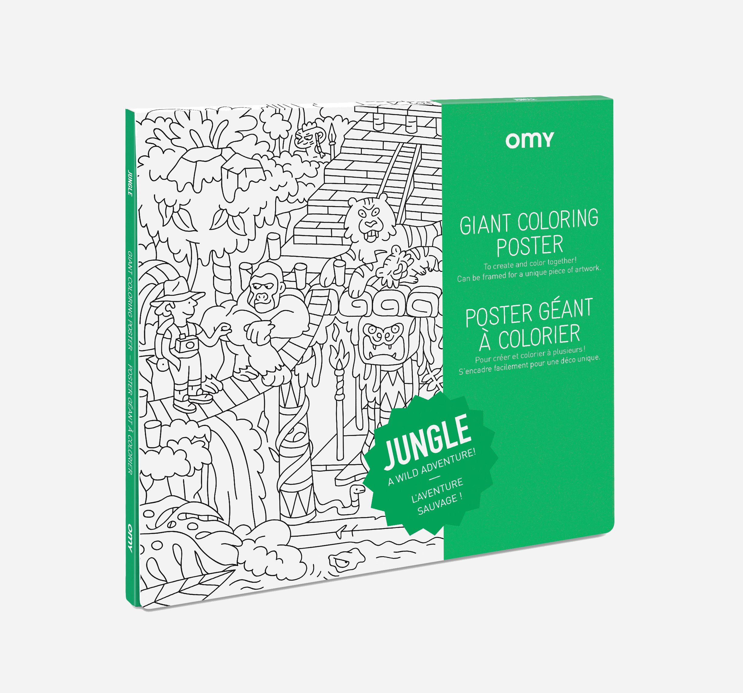 OMY  - COLORING POSTER - JUNGLE- 100 x 70 - Toys