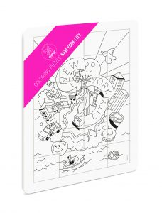 OMY  - COLORING PUZZLE - NEW YORK CITY - Toys