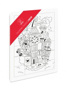 OMY  - COLORING PUZZLE - LONDON - Toys