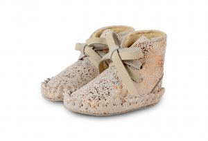 Donsje Ecru - Pina Exclusive Lining  Baby Shoes Cream Rosé Metallic - Footware
