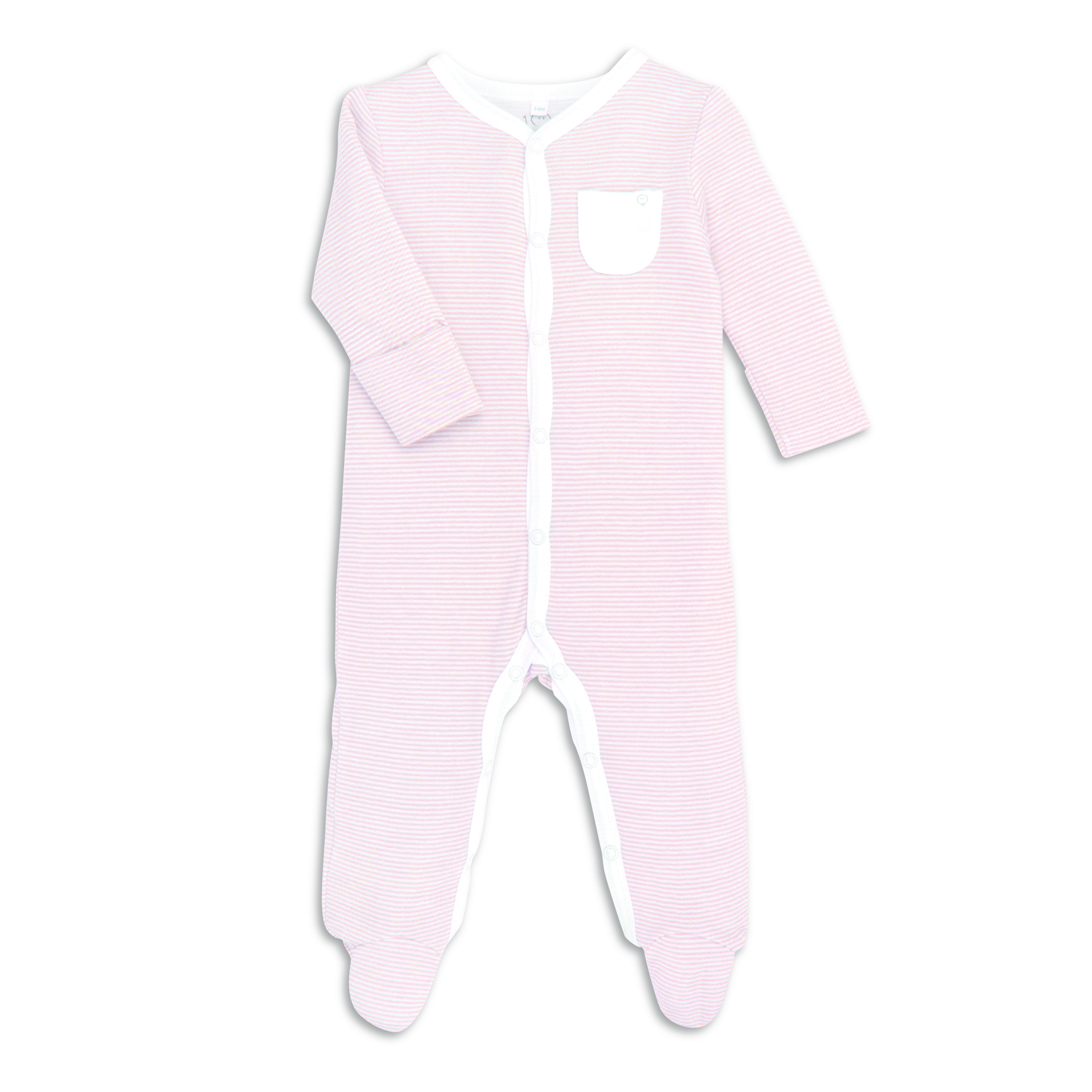 Mori Pink - Sleepsuit Front Opening Pink - Clothing