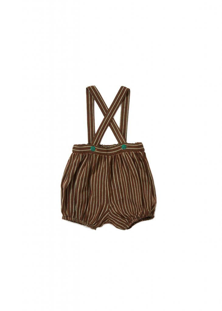 Caramel Brown - Wilton Romper Stripe - Clothing