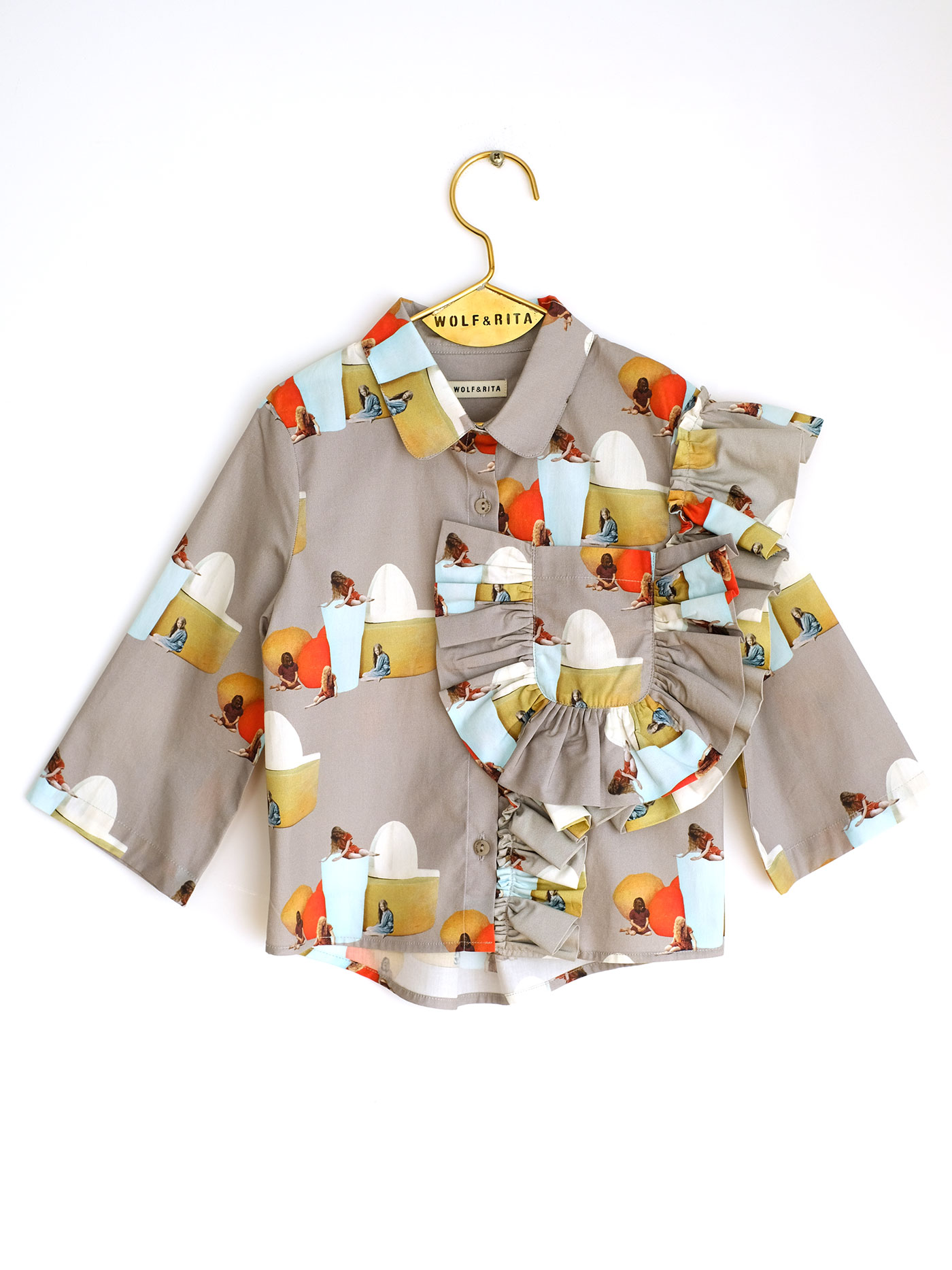 Wolf & Rita Grey - Carolina No Electricity Blouse - Clothing