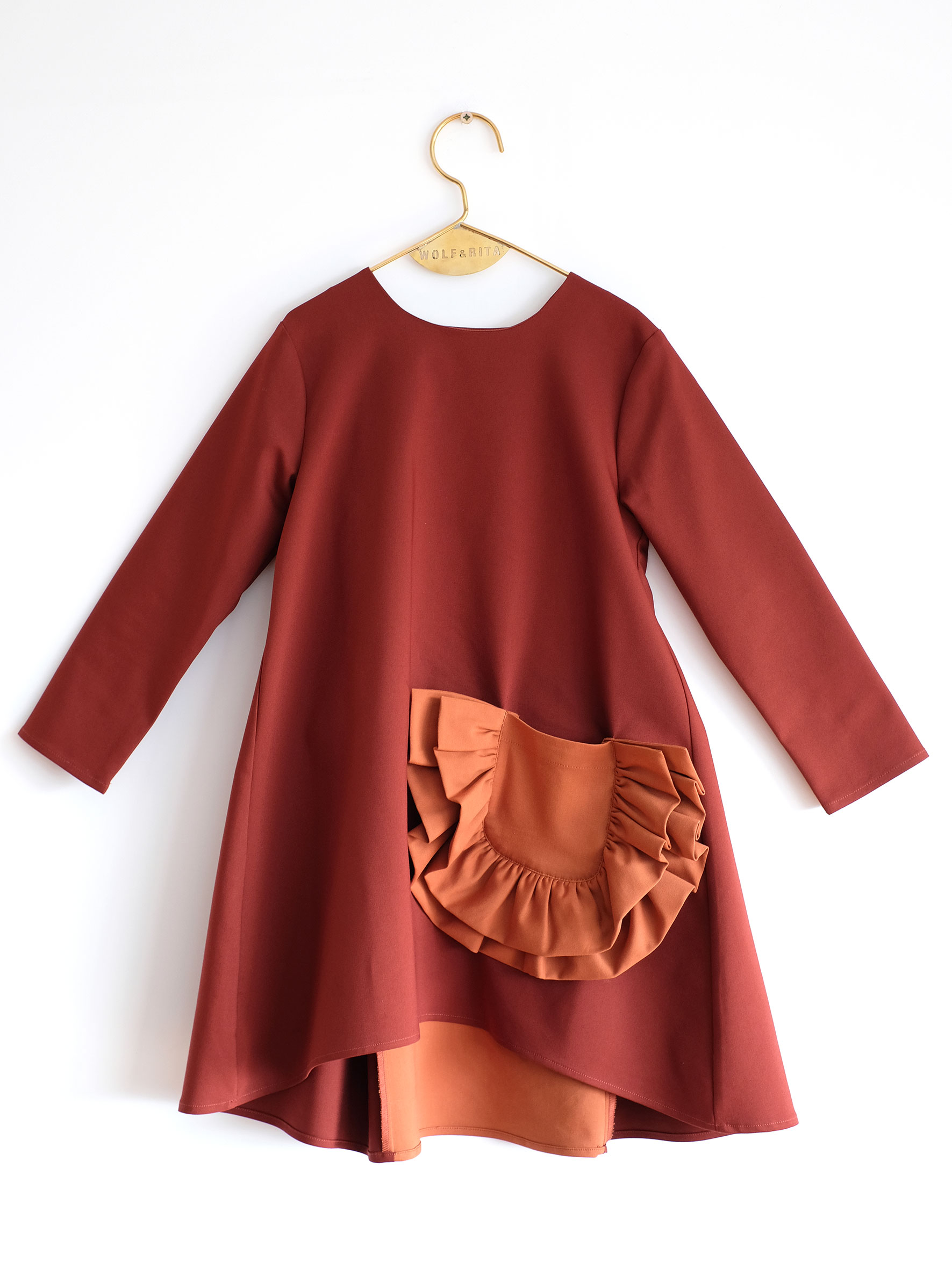 Wolf & Rita Orange - Claudia Bordeaux Dress - Clothing