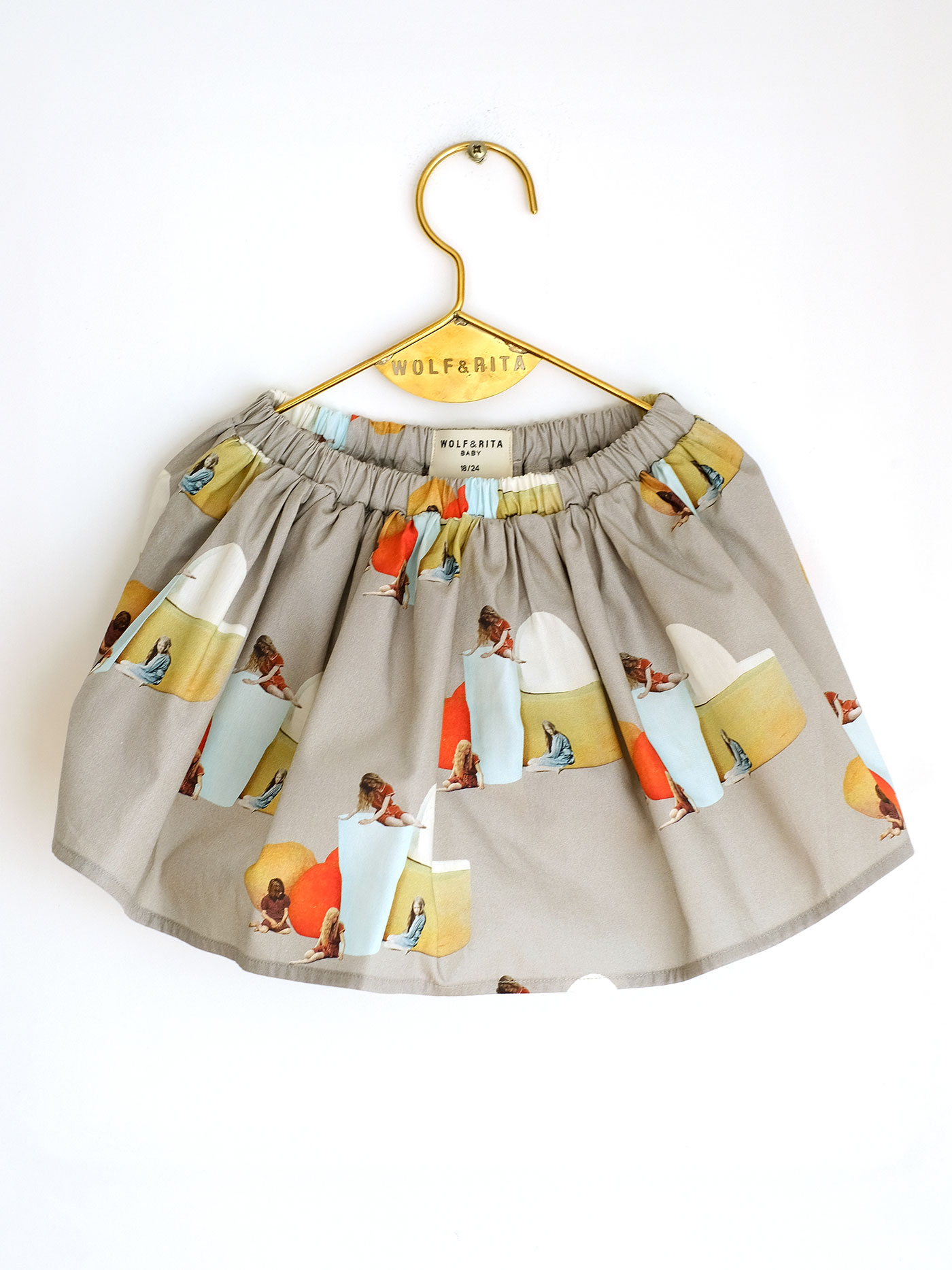 Wolf & Rita Grey - Leonor No Electricity Skirt - Clothing