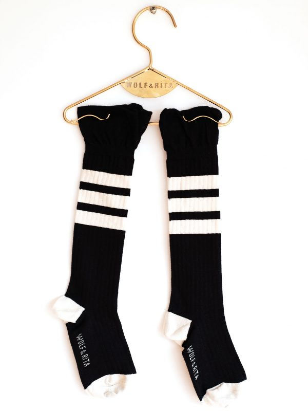 Wolf & Rita Black - Frills Black Socks - Clothing