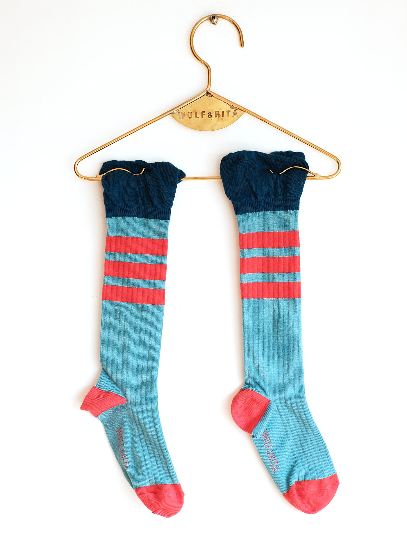 Wolf & Rita Blue - Frills Blue Socks - Clothing