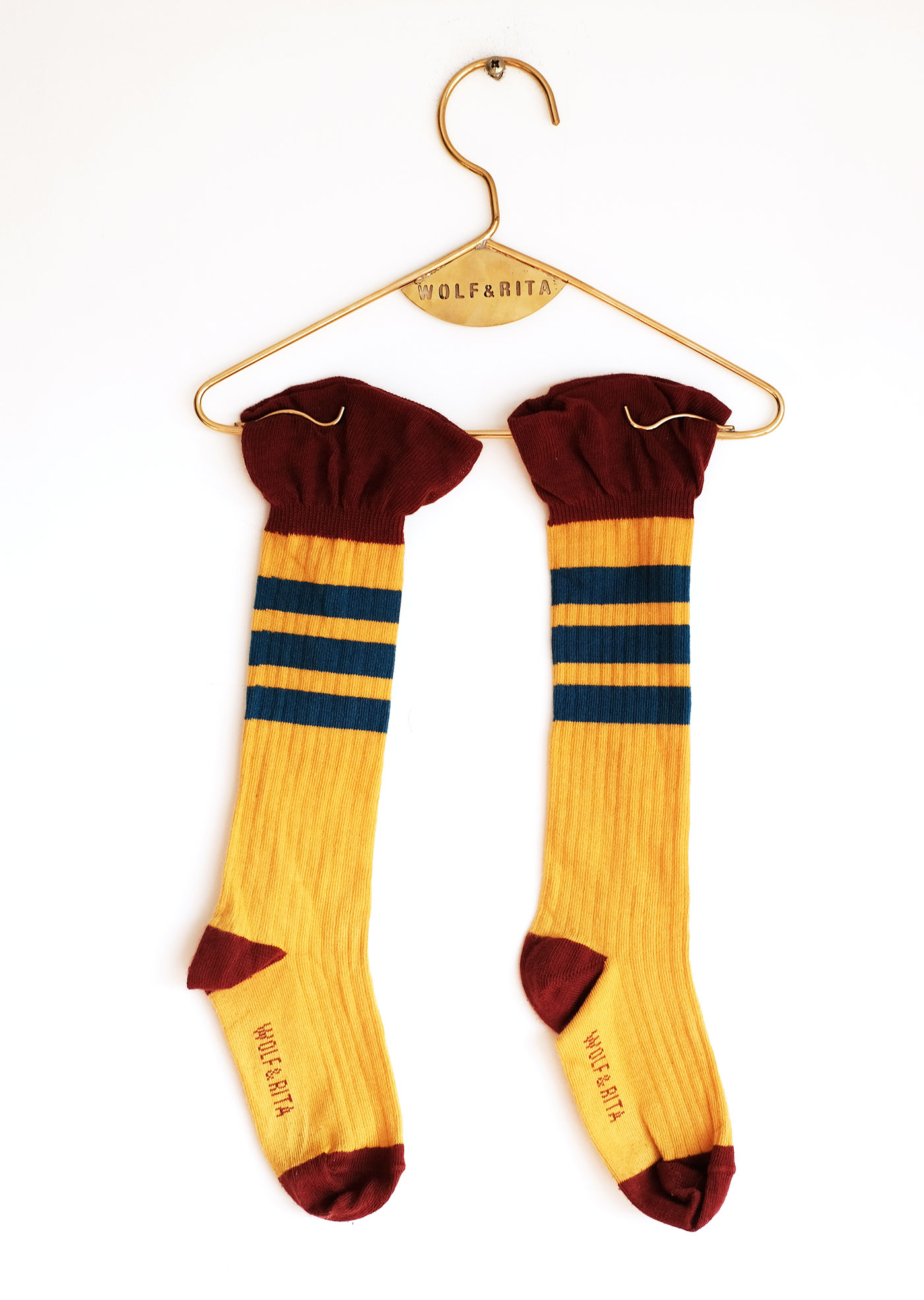 Wolf & Rita Yellow - Frills Yellow Socks - Clothing