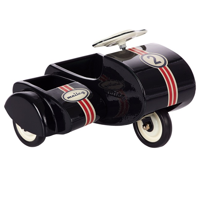Maileg  - Black Scooter with sidecar