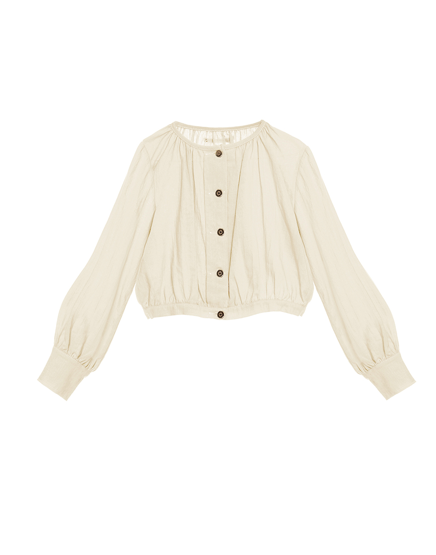 Little Creative Factory  - Ballet Blouse IVORY - Clothing