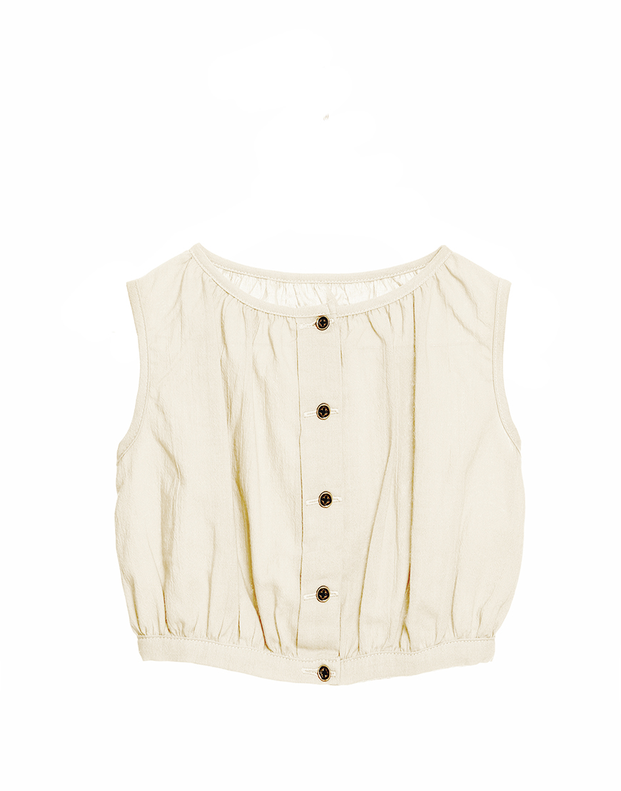 Little Creative Factory  - Ballet Top IVORY - Clothing