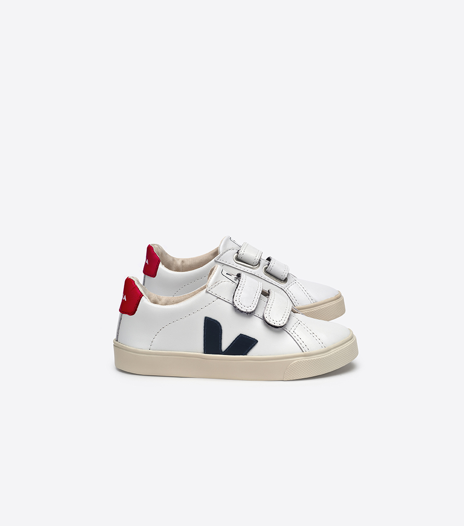 Veja  - Esplar Leather Extra White Nautico Pekin - Footware
