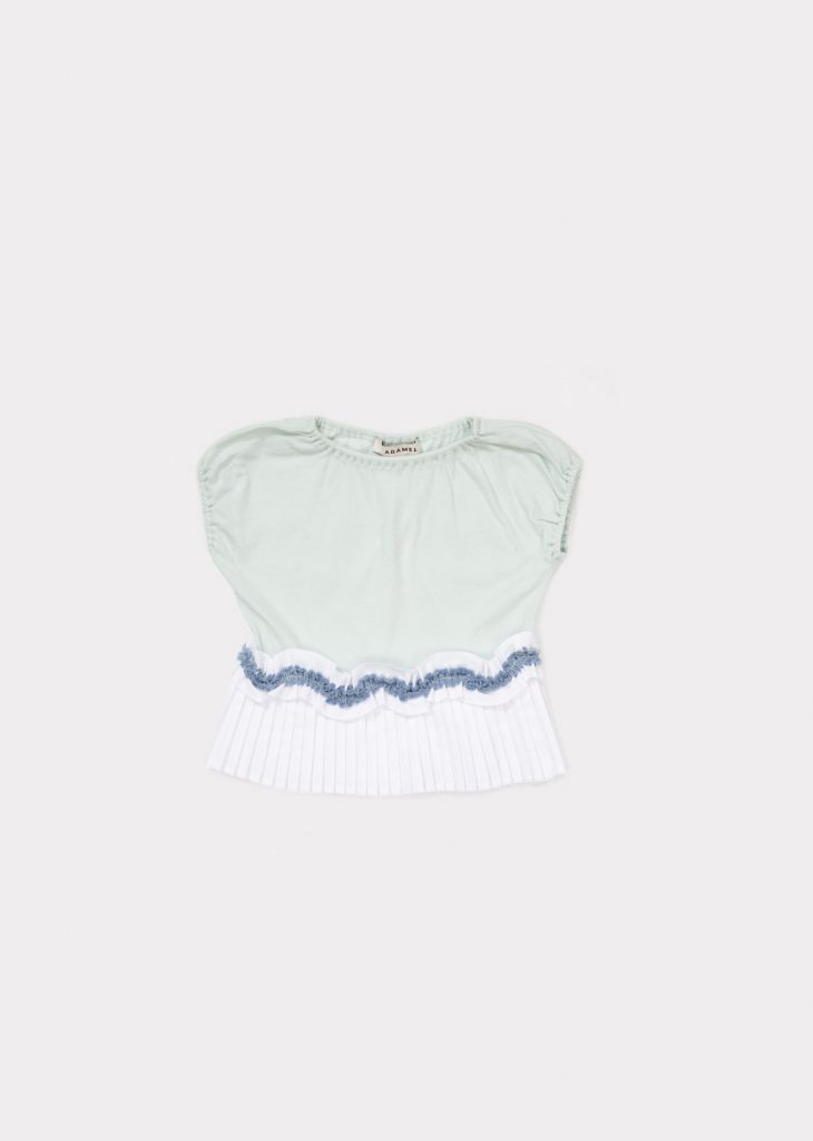 Caramel  - AMISK BABY T-SHIRT LIGHT MINT - Clothing