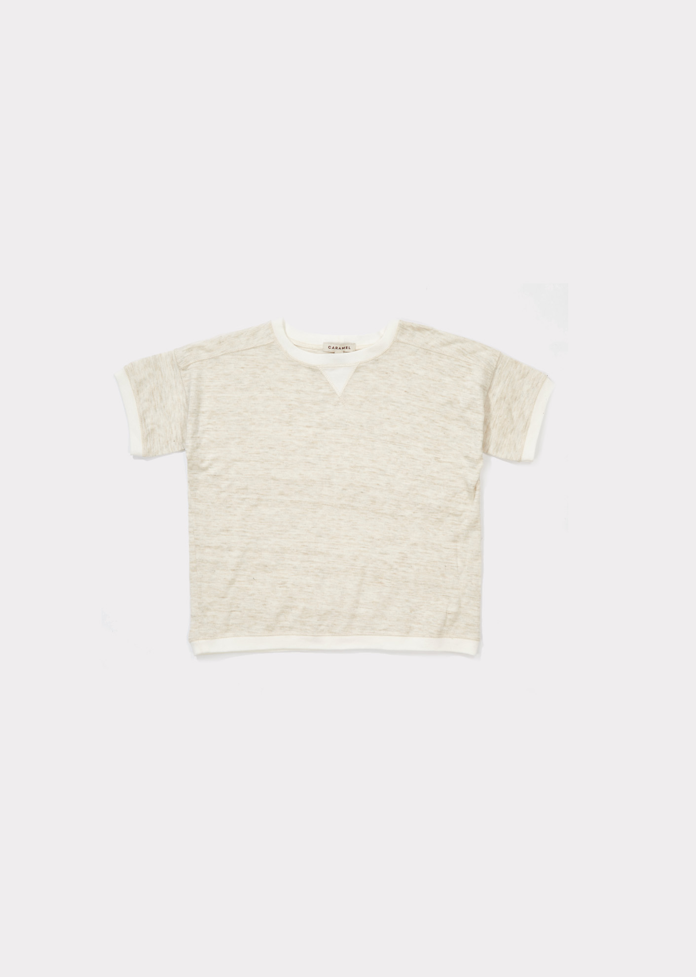 Caramel  - KEZAR T-SHIRT OATMEAL - Clothing