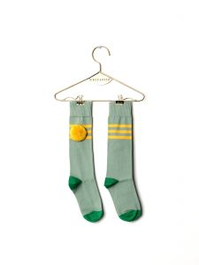 Wolf & Rita  - BABY LONG SOCKS STRIPES YELLOW - Clothing