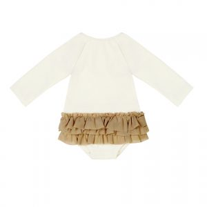 Little Creative Factory  - BABY LONG-SLEEVED DEGAS BATHING SUIT IVORY - Clothing