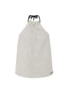 Little Creative Factory  - TAP APRON DRESS WHITE - Clothing