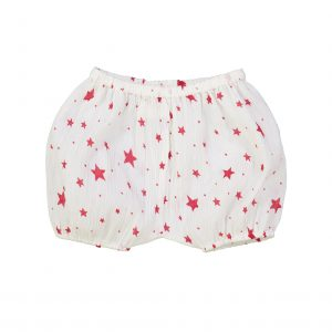 Louis Louise  - LONDON RED COTTON CREPE STARS BLOOMER - Clothing