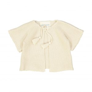 Louis Louise  - EDITH CREAM KNITTED COTTON CARDIGAN - Clothing