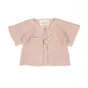 Louis Louise  - EDITH PINK KNITTED COTTON CARDIGAN - Clothing