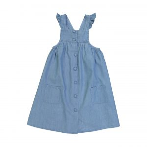 Louis Louise  - SIDONIE BLUE CHAMBRAY DRESS - Clothing