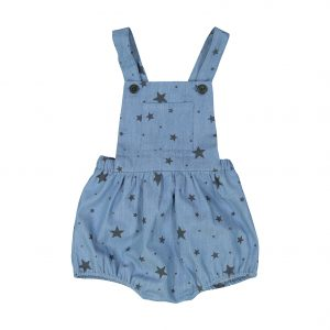 Louis Louise  - CAMION BLUE&CARBON CHAMBRAY STARS OVERALL - Clothing
