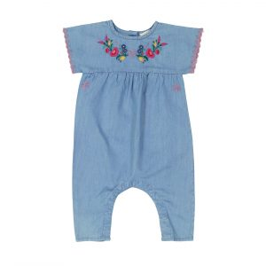 Louis Louise  - CARLITA BLUE CHAMBRAY OVERALL - Clothing
