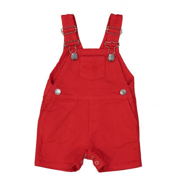 Louis Louise  - GARDEN RED DYED DENIM OVERALL - Clothing
