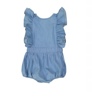Louis Louise  - MARIE BLUE CHAMBRAY OVERALL - Clothing