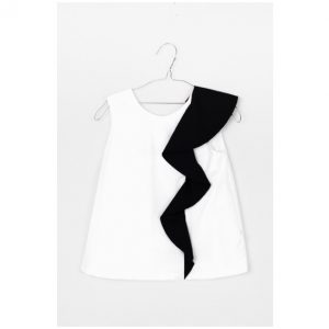 Motoreta  - MARIANA BLOUSE WHITE & BLACK - Clothing