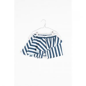 Motoreta  - ABI BABY SKORT BLUE & WHITE STRIPES - Clothing