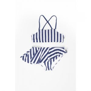 Motoreta  - BABY BIKINI BLUE & WHITE STRIPES - Clothing