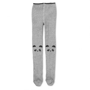 Liewood  - Silje Stocking Panda Grey Melange - Clothing