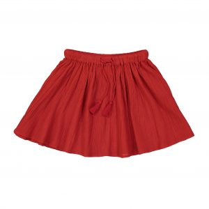 Louis Louise  - OPERA RED COTTON CREPE SKIRT - Clothing