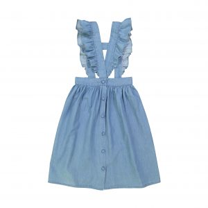 Louis Louise  - SCARLETTE BLUE CHAMBRAY SKIRT - Clothing