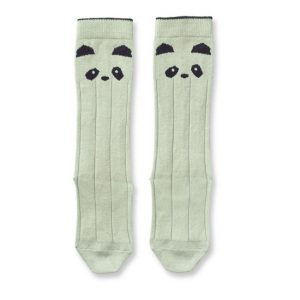Liewood  - Sofia Knee Socks Panda Dusty Mint - Clothing