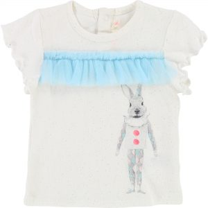 Billieblush  - PARTY IVORY T-SHIRT BUNNY - Clothing