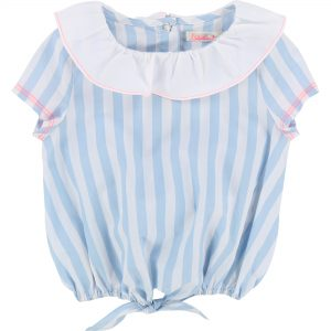 Billieblush  - SPRING WHITE  BLUE BLOUSE - Clothing