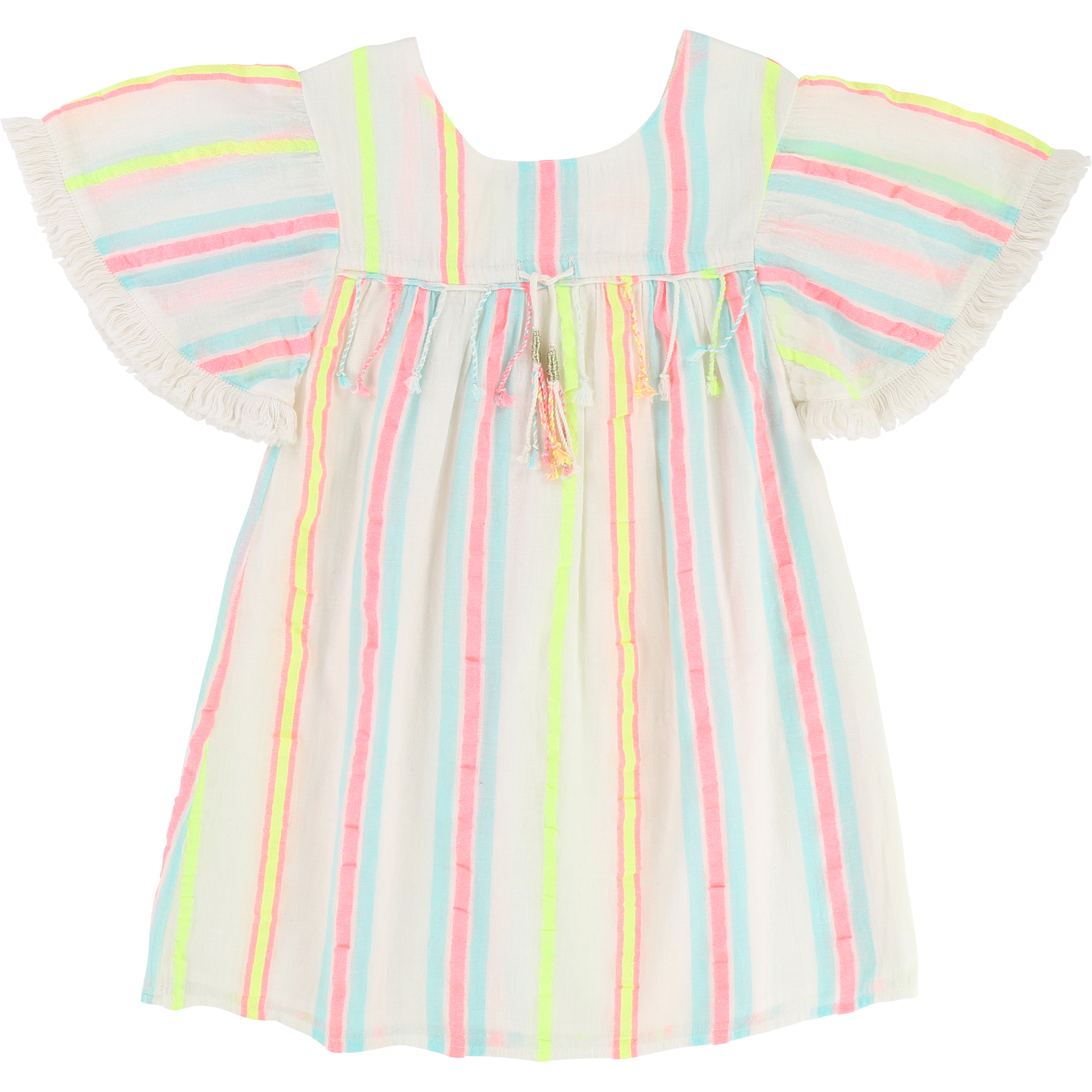 Billieblush  - PARTY STRAW YELLOW DRESS - Clothing