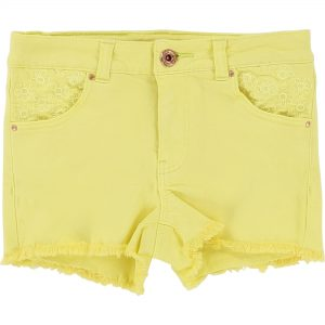Billieblush  - SUMMER STRAW YELLOW SHORTS - Clothing